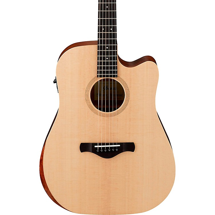 IbanezAW150CE Artwood Unbound Dreadnought Acoustic-Electric GuitarSatin Natural