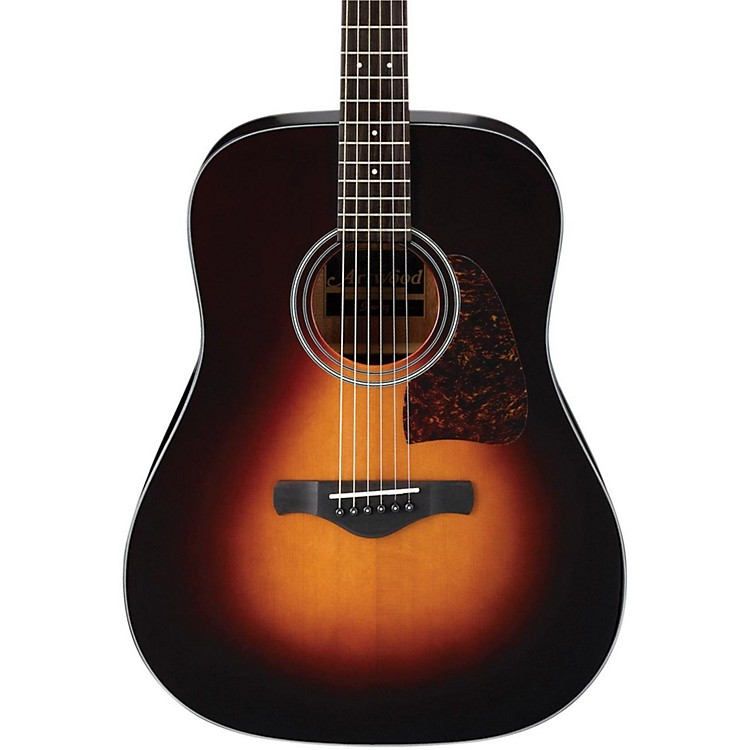 IbanezAW400 Artwood Solid Top Dreadnought Acoustic GuitarBrown Sunburst