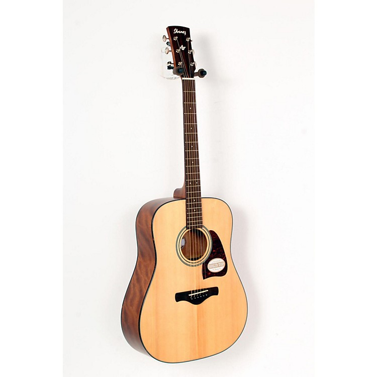 Ibanez AW400 Artwood Solid Top Dreadnought Acoustic Guitar Natural 888365729596