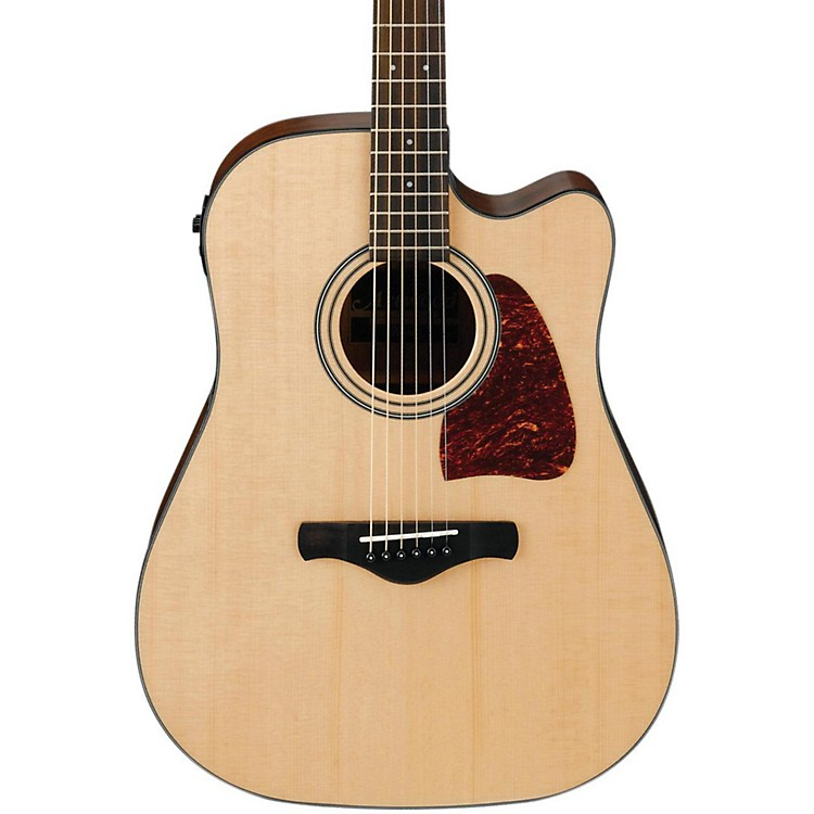 Ibanez AW400C Artwood Solid Top Dreadnought Acoustic-Electric Guitar Natural