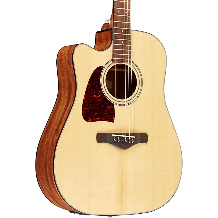 IbanezAW400CENT Artwood Solid Top Dreadnought Left-Handed Acoustic-Electric GuitarNatural