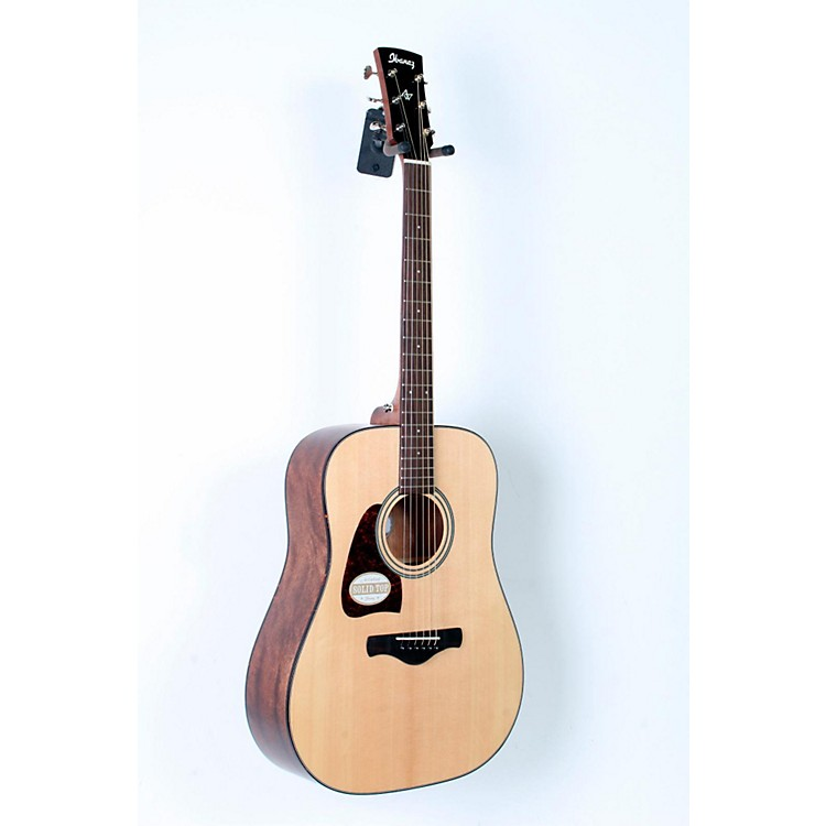 Ibanez AW400LNT Artwood Solid Top Dreadnought Left-Handed Acoustic Guitar Natural 888365723945