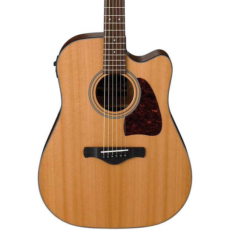 IbanezAW450CENT Artwood Solid Top Dreadnought Acoustic-Electric GuitarNatural