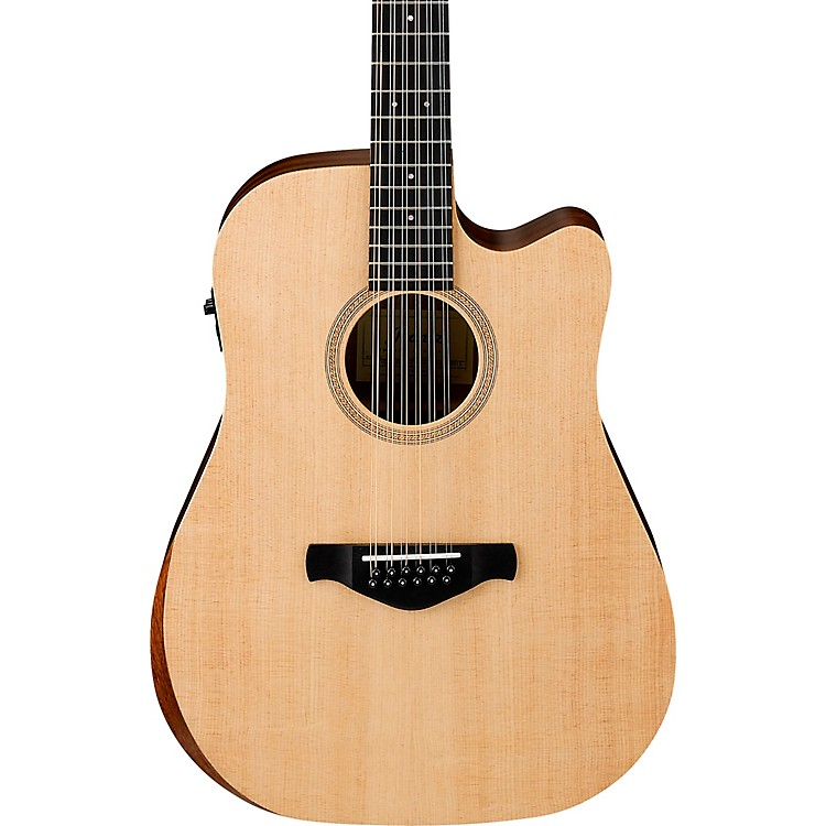 Ibanez AW521CE Artwood Unbound 12-String Dreadnought Acoustic-Electric Guitar Satin Natural