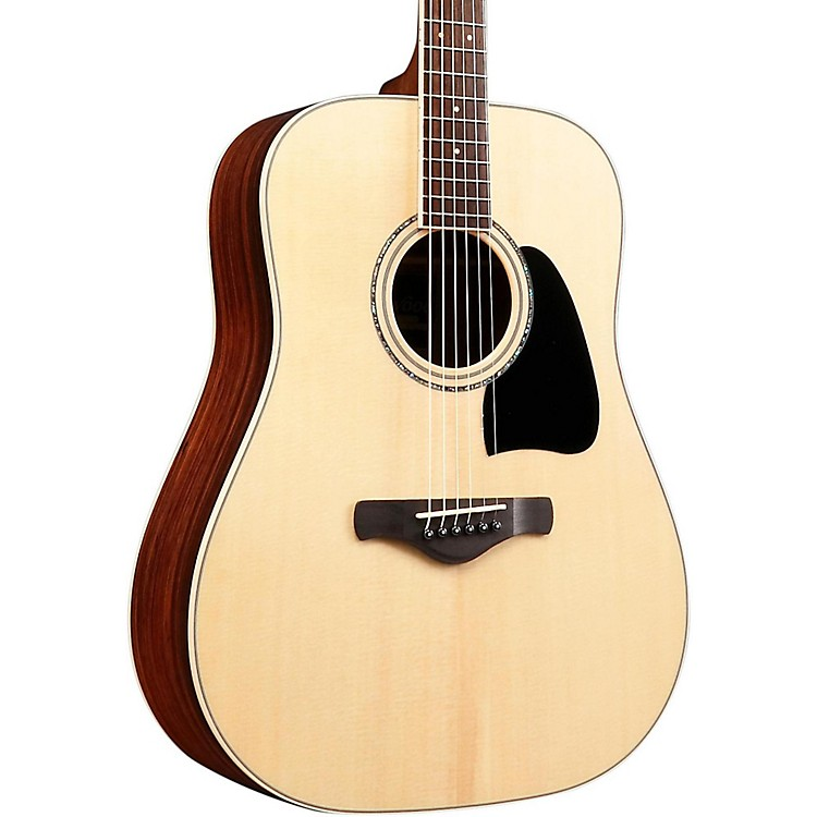 IbanezAW535NT Artwood Solid Top Dreadnought Acoustic GuitarGloss Natural888365745473