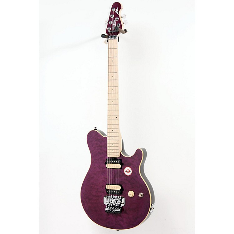 Sterling by Music Man AX40D Electric Guitar Transparent Purple 886830991837
