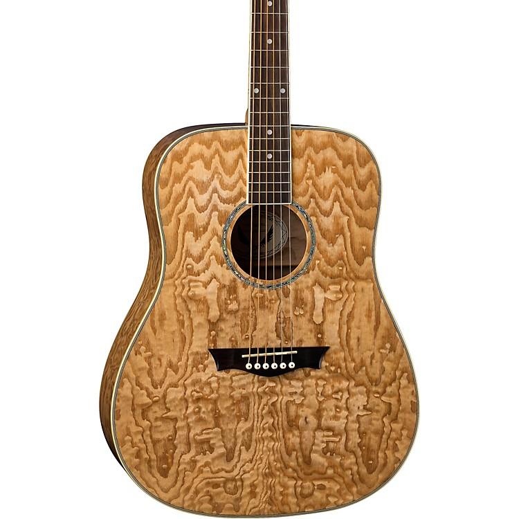 DeanAXS Dreadnought Quilt Acoustic GuitarNatural