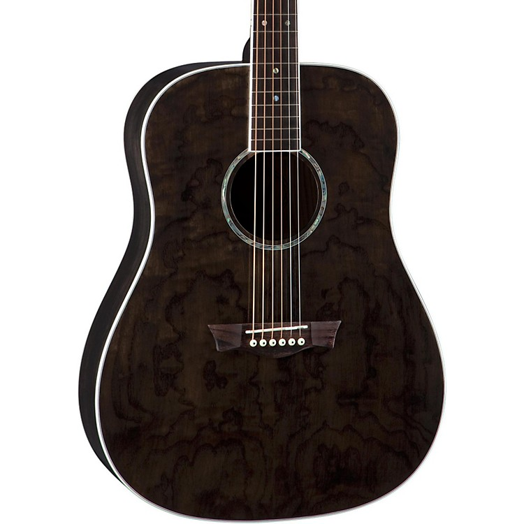 Dean AXS Dreadnought Quilt Acoustic Guitar Transparent Black
