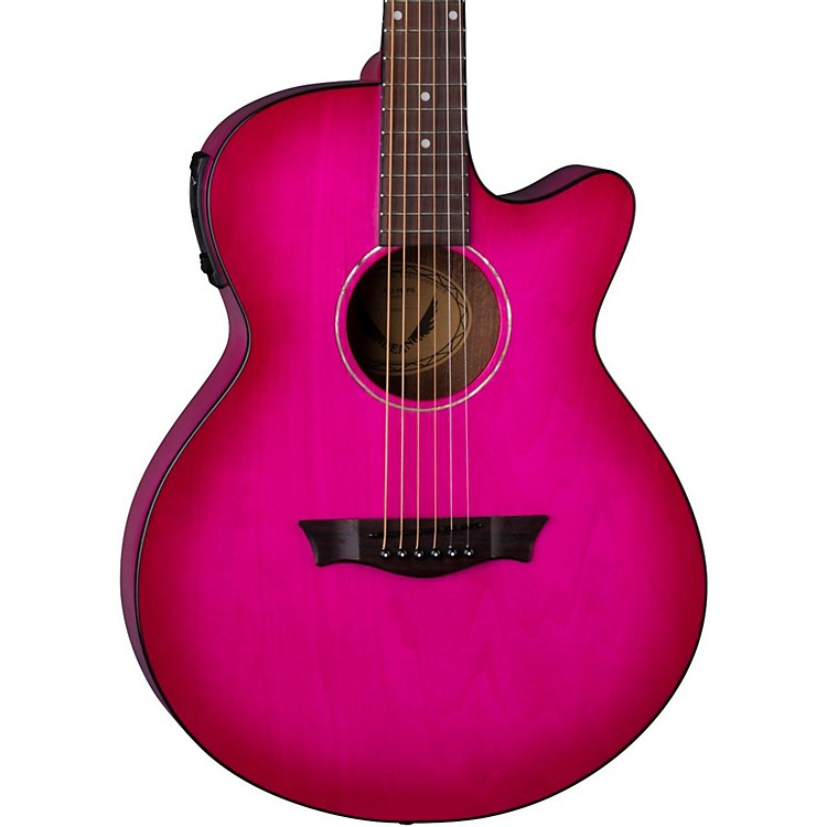 Dean AXS Performer Acoustic-Electric Guitar Pink Burst