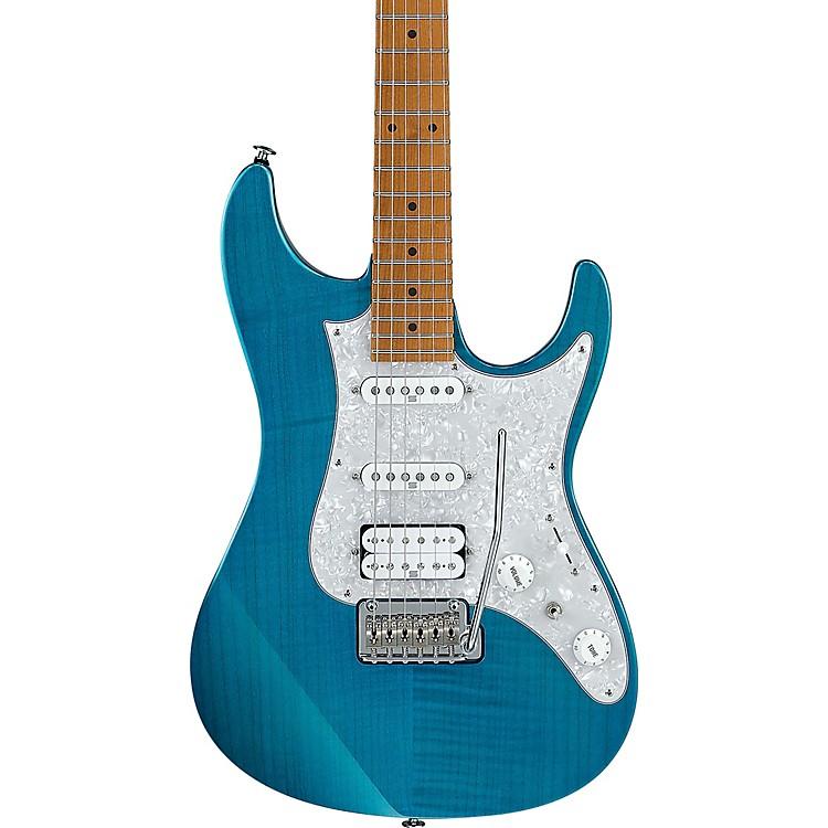 IbanezAZ2204F AZ Prestige Series Electric GuitarTransparent Aqua Blue