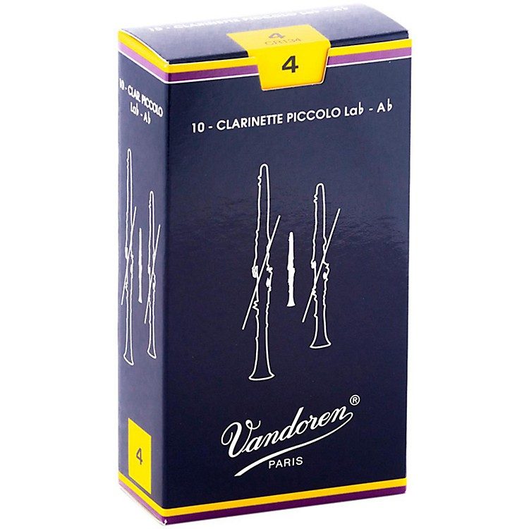 VandorenAb Sopranino Clarinet ReedsStrength 4, Box of 10