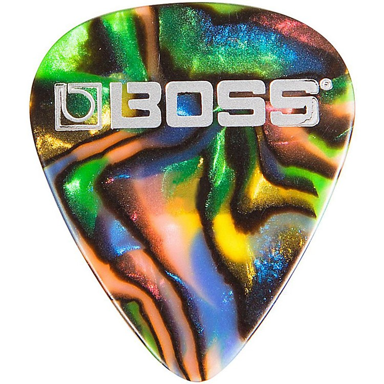 Boss Abalone Celluloid Guitar Heavy 12 Pack