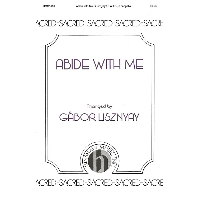 Hinshaw MusicAbide with Me SATB composed by William H. Monk