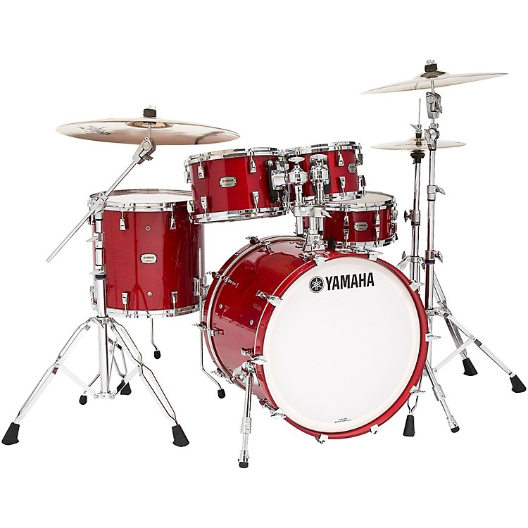Yamaha Absolute Hybrid Maple 4-Piece Shell Pack Red Autumn