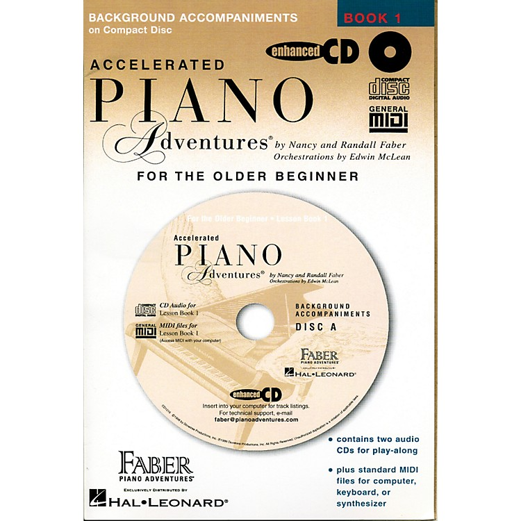 Faber Piano AdventuresAccelerated Piano Adventures for The Older Beginner CD - Faber Piano