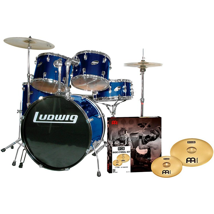 LudwigAccent Combo 5-piece Drum Set with Meinl CymbalsBlue