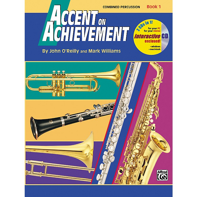 AlfredAccent on Achievement Book 1 Combined PercussionS.D. B.D. Access. & Mallet Percussion Book & CD