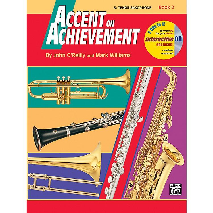 AlfredAccent on Achievement Book 2 B-Flat Tenor Saxophone Book & CD