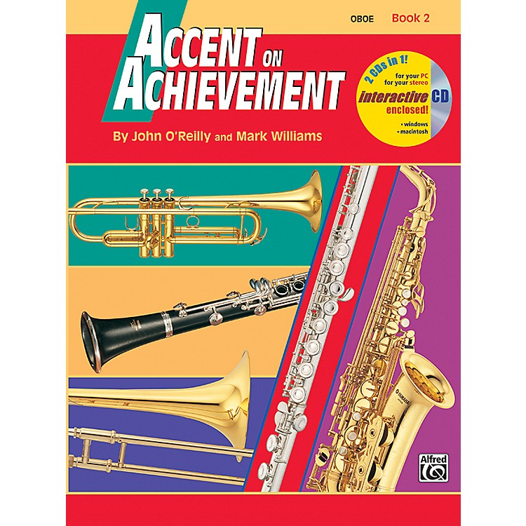 AlfredAccent on Achievement Book 2 Oboe Book & CD
