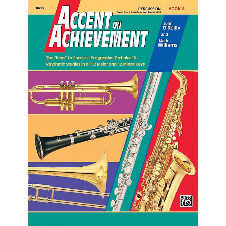 AlfredAccent on Achievement Book 3 PercussionSnare Drum Bass Drum & Accessories