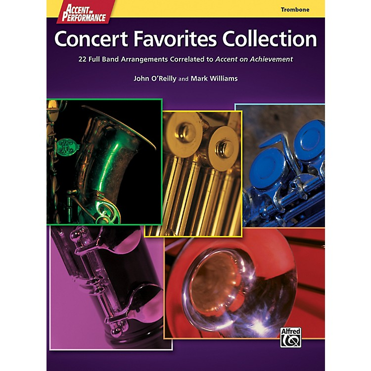 Alfred Accent on Performance Concert Favorites Collection Trombone Book