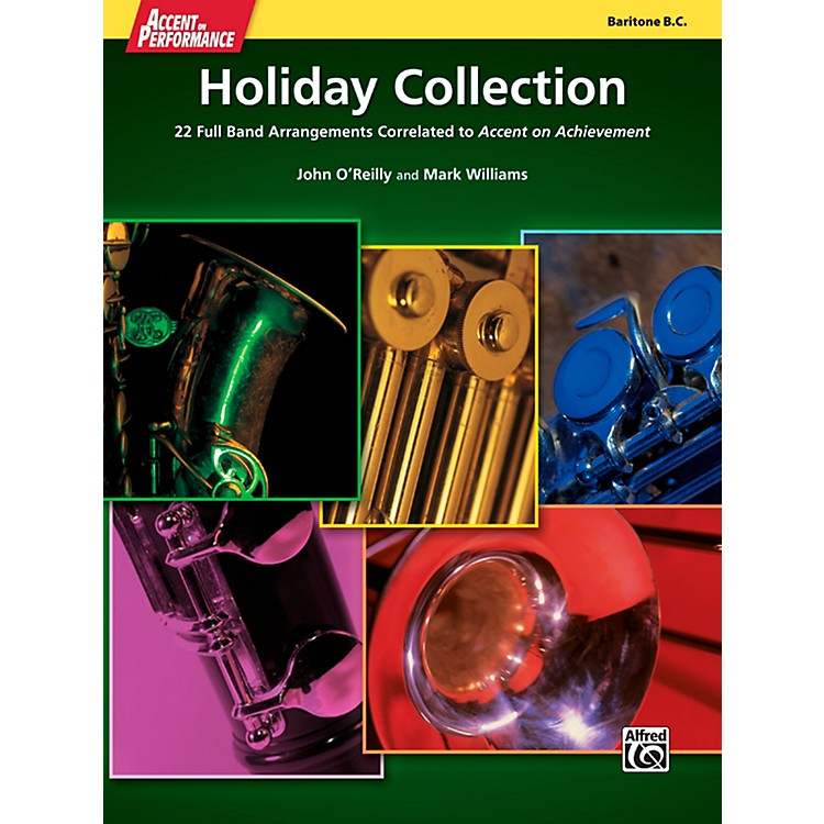 Alfred Accent on Performance Holiday Collection Baritone Bass Clef Book