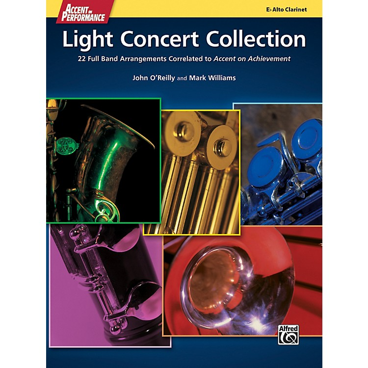 Alfred Accent on Performance Light Concert Collection Alto Clarinet Book