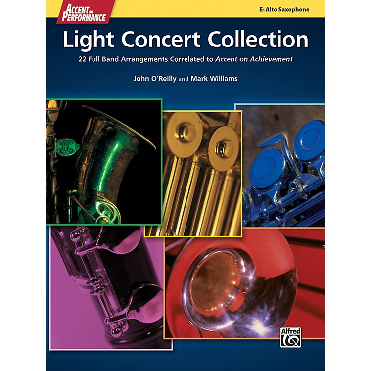 Alfred Accent on Performance Light Concert Collection Alto Sax Book