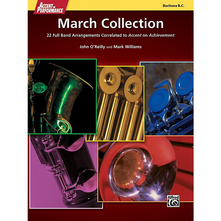 Alfred Accent on Performance March Collection Baritone Bass Clef Book