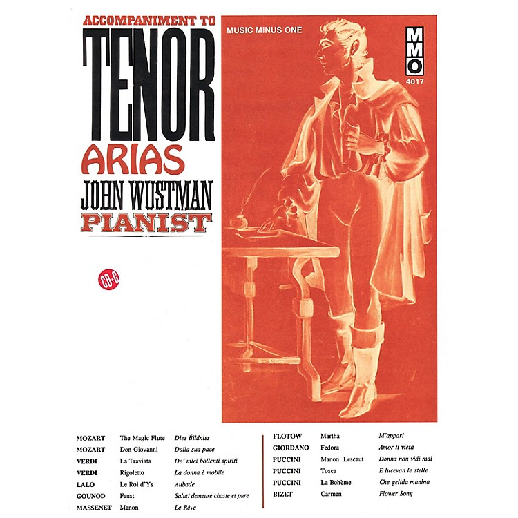Music Minus OneAccompaniment to Tenor Arias Music Minus One Series Softcover with CD  by Various