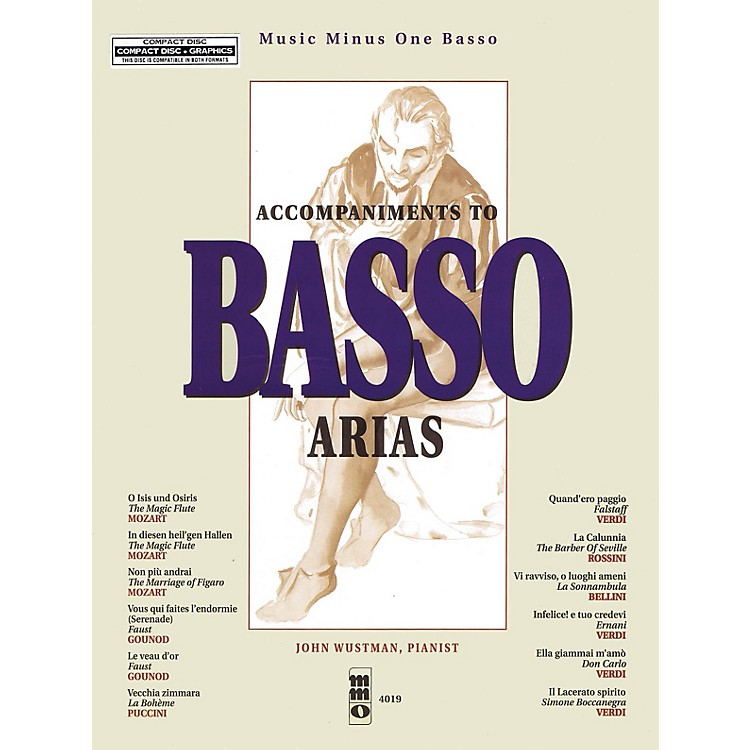 Music Minus OneAccompaniments to Basso Arias Music Minus One Series Softcover with CD  by Various