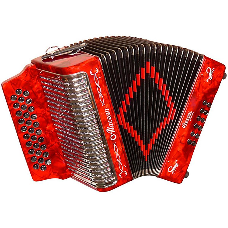Alacran Accordion AL3112 Red with Case FBE