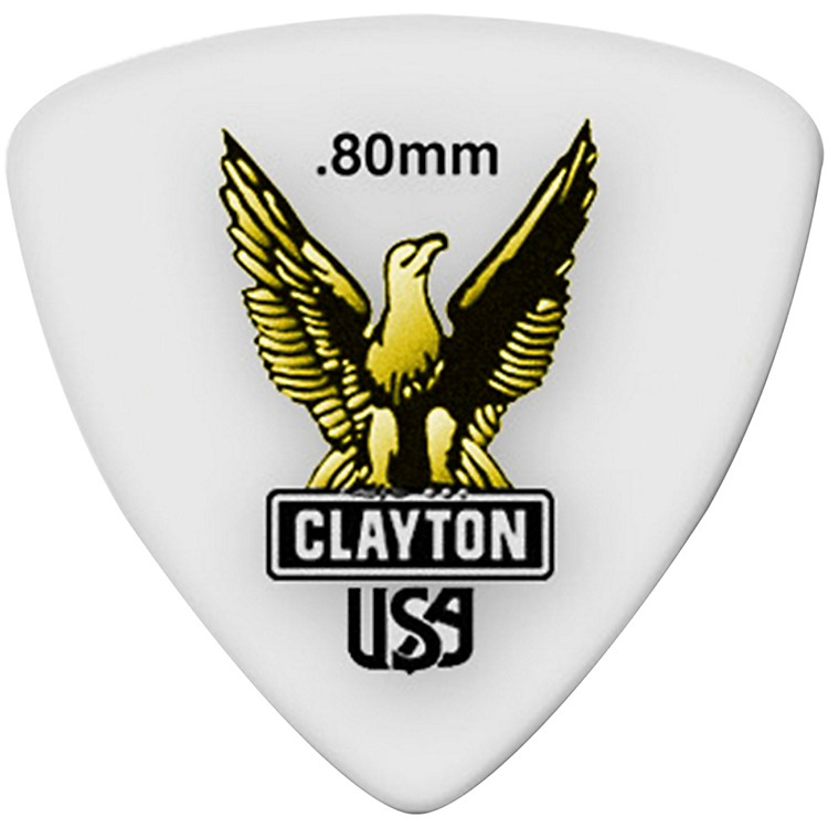 Clayton Acetal Rounded Triangle Guitar Picks .80 mm 1 Dozen