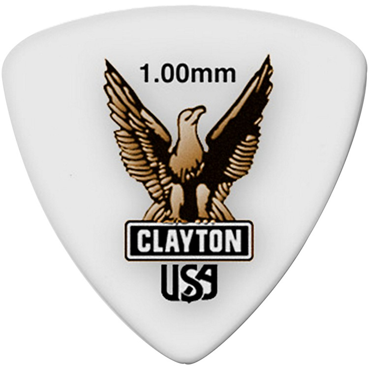 Clayton Acetal Rounded Triangle Guitar Picks 1.0 mm 1 Dozen