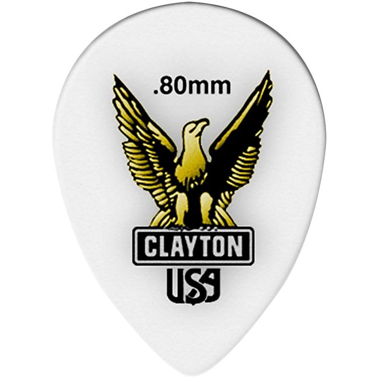 ClaytonAcetal Small Teardrop Guitar Picks.80 mm1 Dozen
