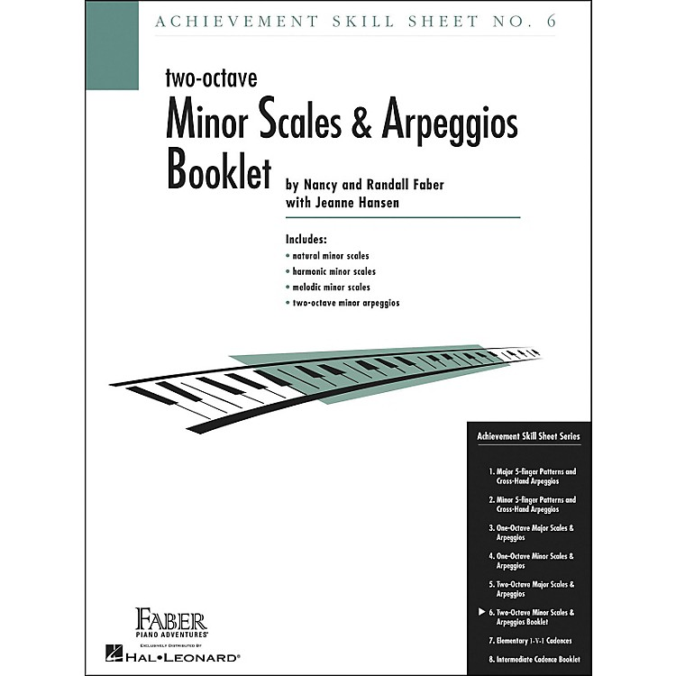Faber Piano Adventures Achievement Skill Sheet No. 6: Two Octave Minor Scales And Arpeggios - Faber Piano