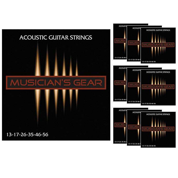 Musician's GearAcoustic 13 80/20 Bronze Guitar Strings 10-Pack