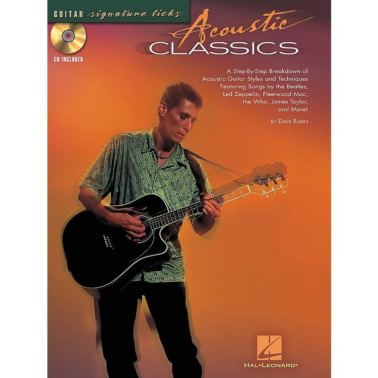 Hal LeonardAcoustic Classics Guitar Signature Licks Book & CD