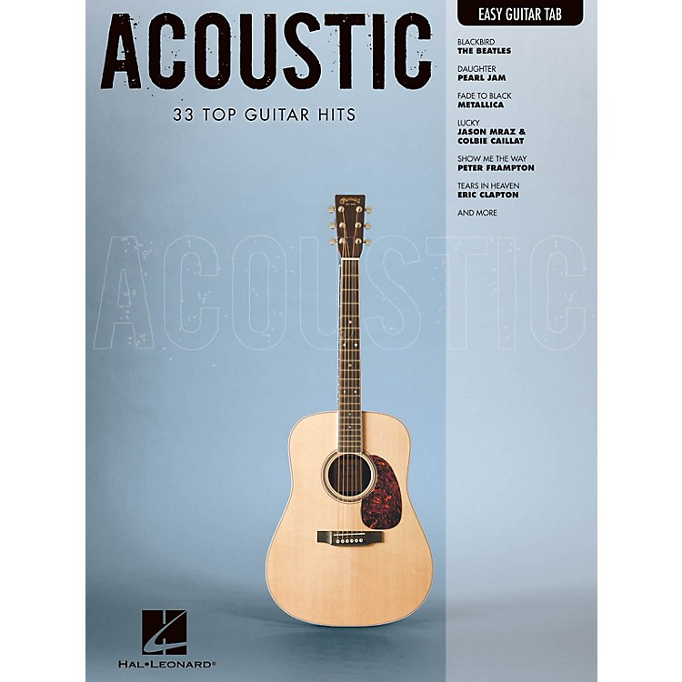 Hal Leonard Acoustic (Easy Guitar with Notes & Tab) Easy Guitar Series Softcover Performed by Various