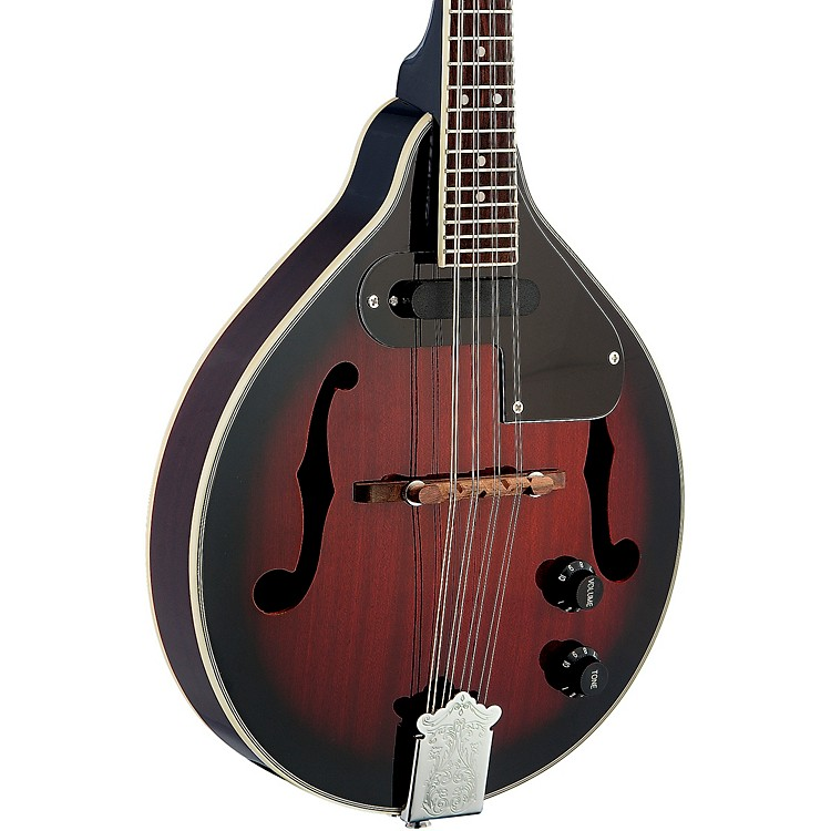 Stagg Acoustic-Electric Bluegrass Mandolin with Nato Top 2-Color Sunburst