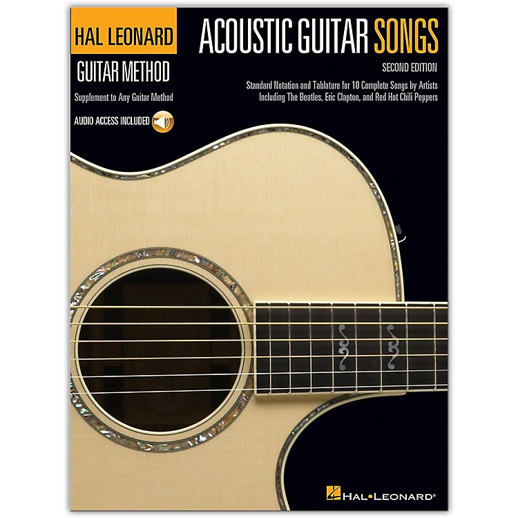Hal LeonardAcoustic Guitar Songs - 2nd Edition Guitar Method Series Softcover Audio Online Performed by Various
