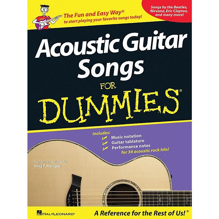 Hal LeonardAcoustic Guitar Songs for Dummies - Book