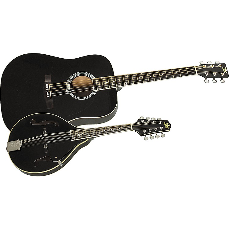 Rogue Acoustic Guitar and Mandolin Pack Black Black