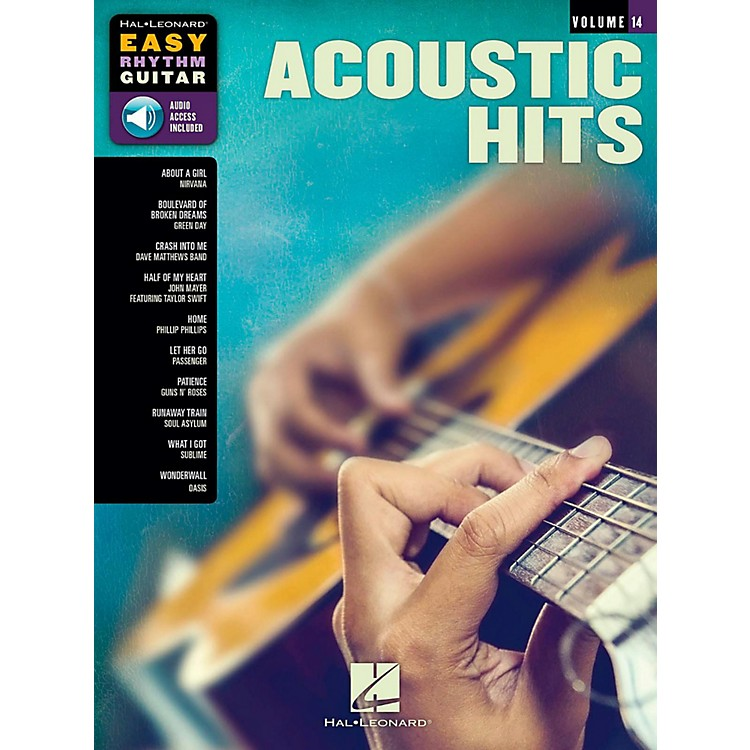 Hal Leonard Acoustic Hits - Easy Rhythm Guitar Series Volume 14 Book/Audio Online