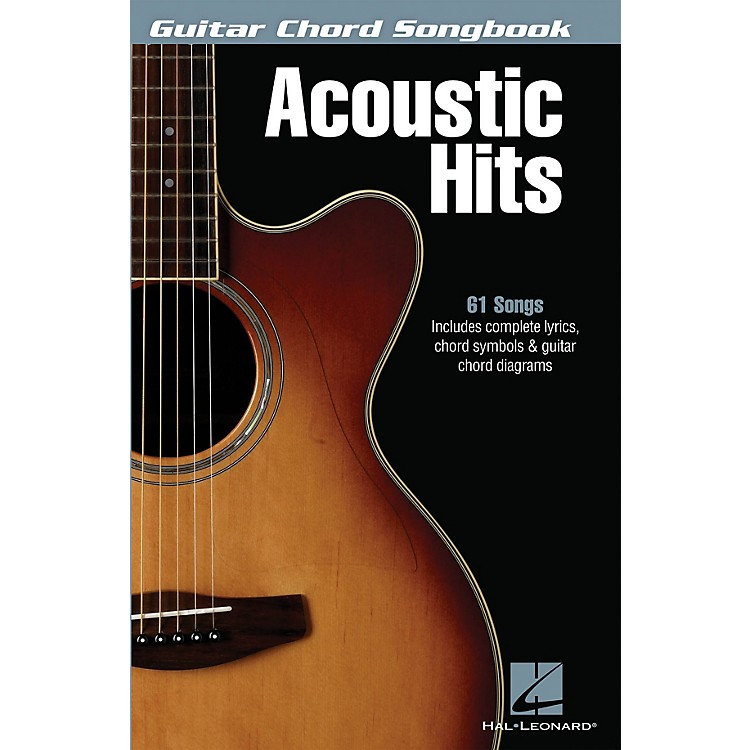 Hal Leonard Acoustic Hits Guitar Chord Songbook Series Softcover Performed by Various