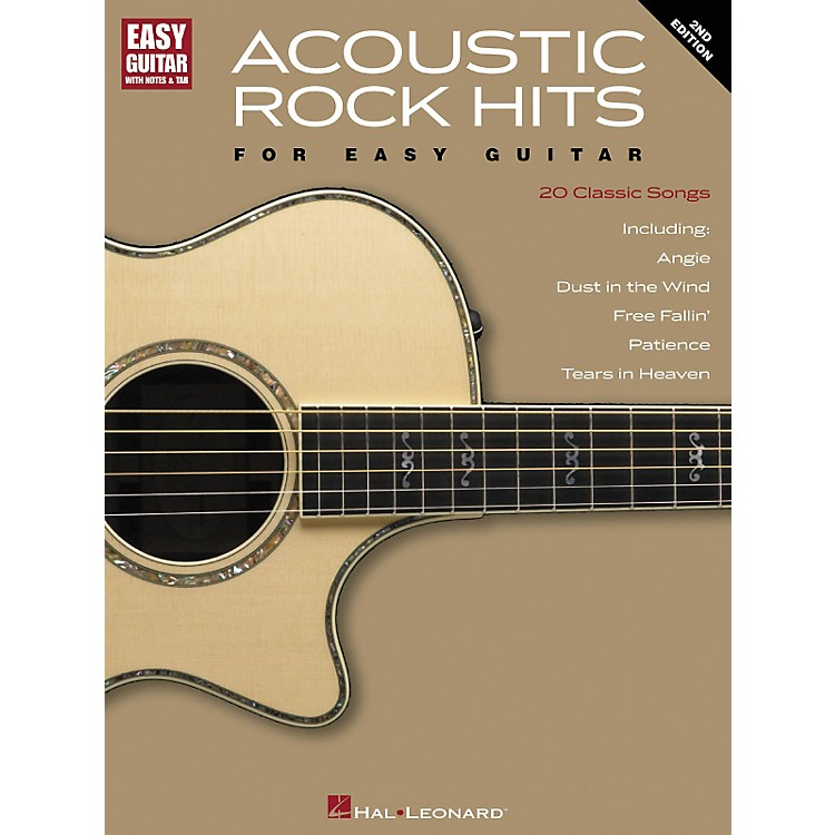 Hal LeonardAcoustic Rock Hits for Easy Guitar 2nd Edition with Notes & Tab