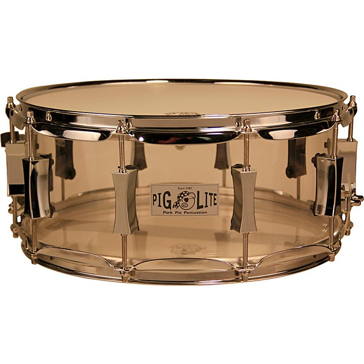 Pork Pie Acrylic Snare Drum with Chrome Hardware 14 x 6 in. Clear
