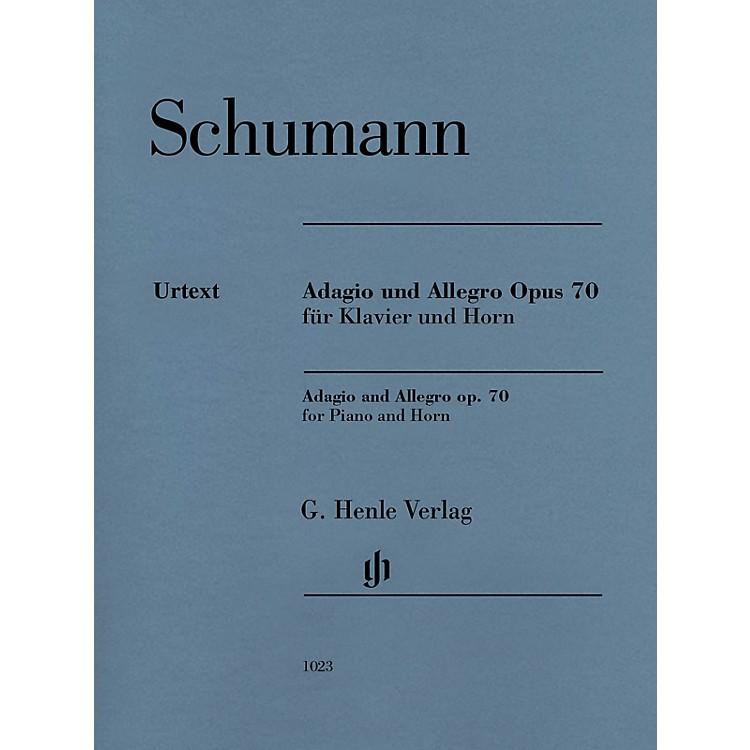 G. Henle VerlagAdagio and Allegro, Op. 70 Henle Music Folios Composed by Robert Schumann Edited by Ernst Herttrich