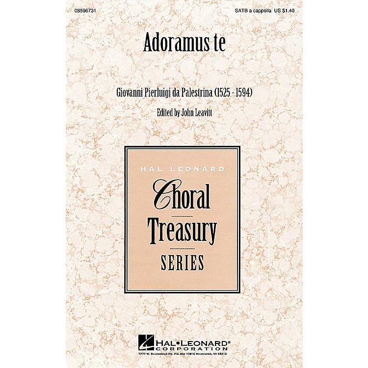 Hal LeonardAdoramus te SATB a cappella arranged by John Leavitt