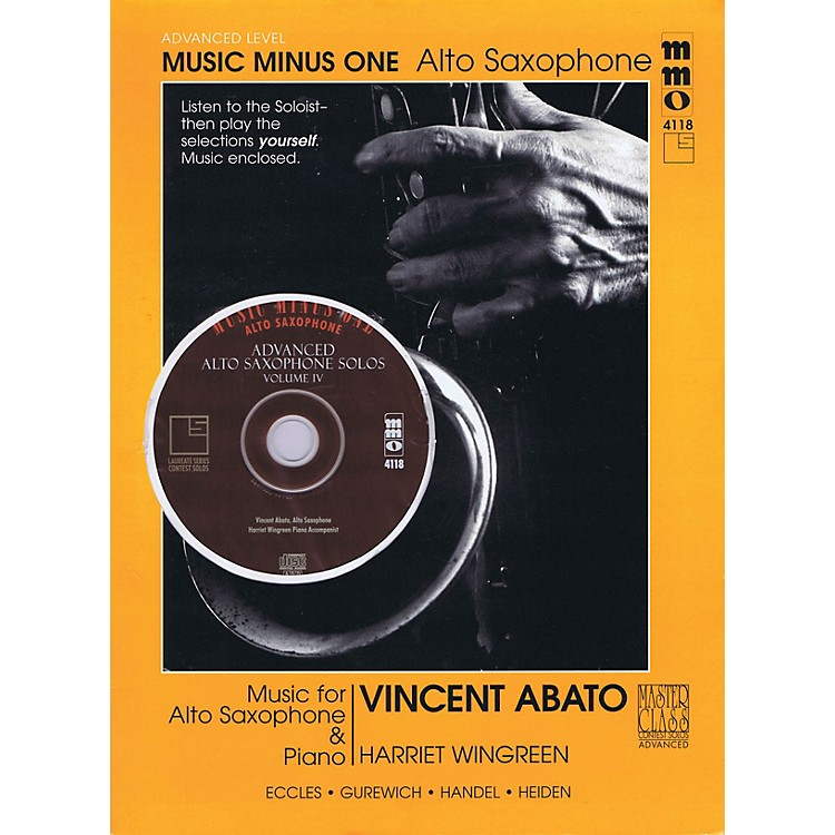 Music Minus OneAdvanced Alto Saxophone Solos - Vol. IV Music Minus One Series Book with CD by Vincent Abato